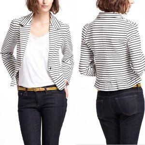 Cartonnier Anthropologie black striped blazer M